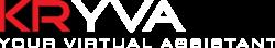 kryva virtual assistant logo white