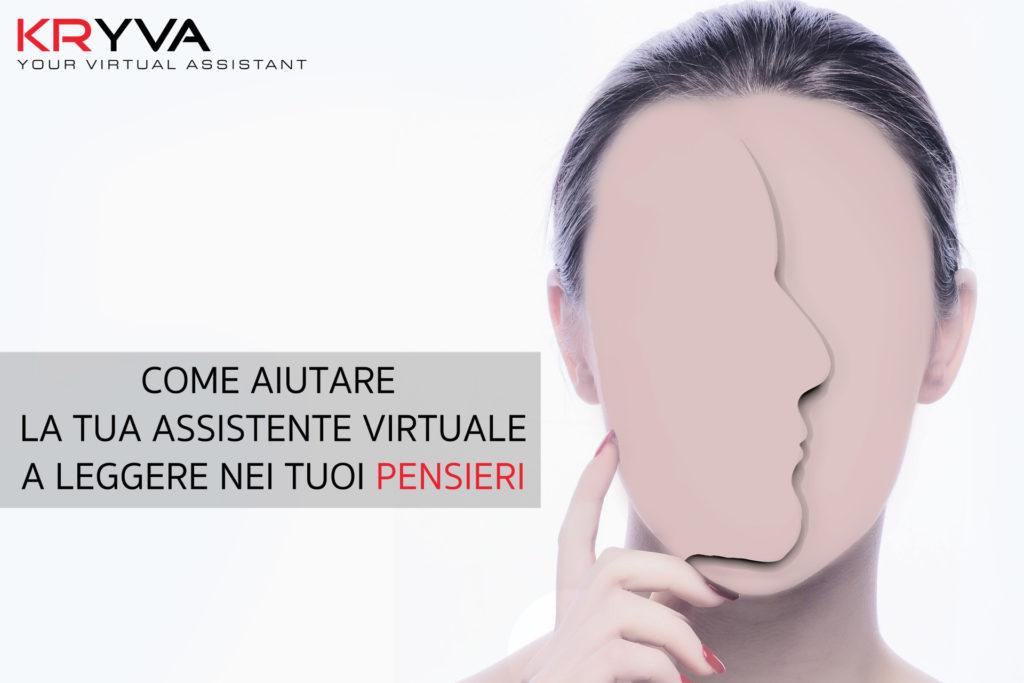 assistente virtuale a leggere nei tuoi pensieri