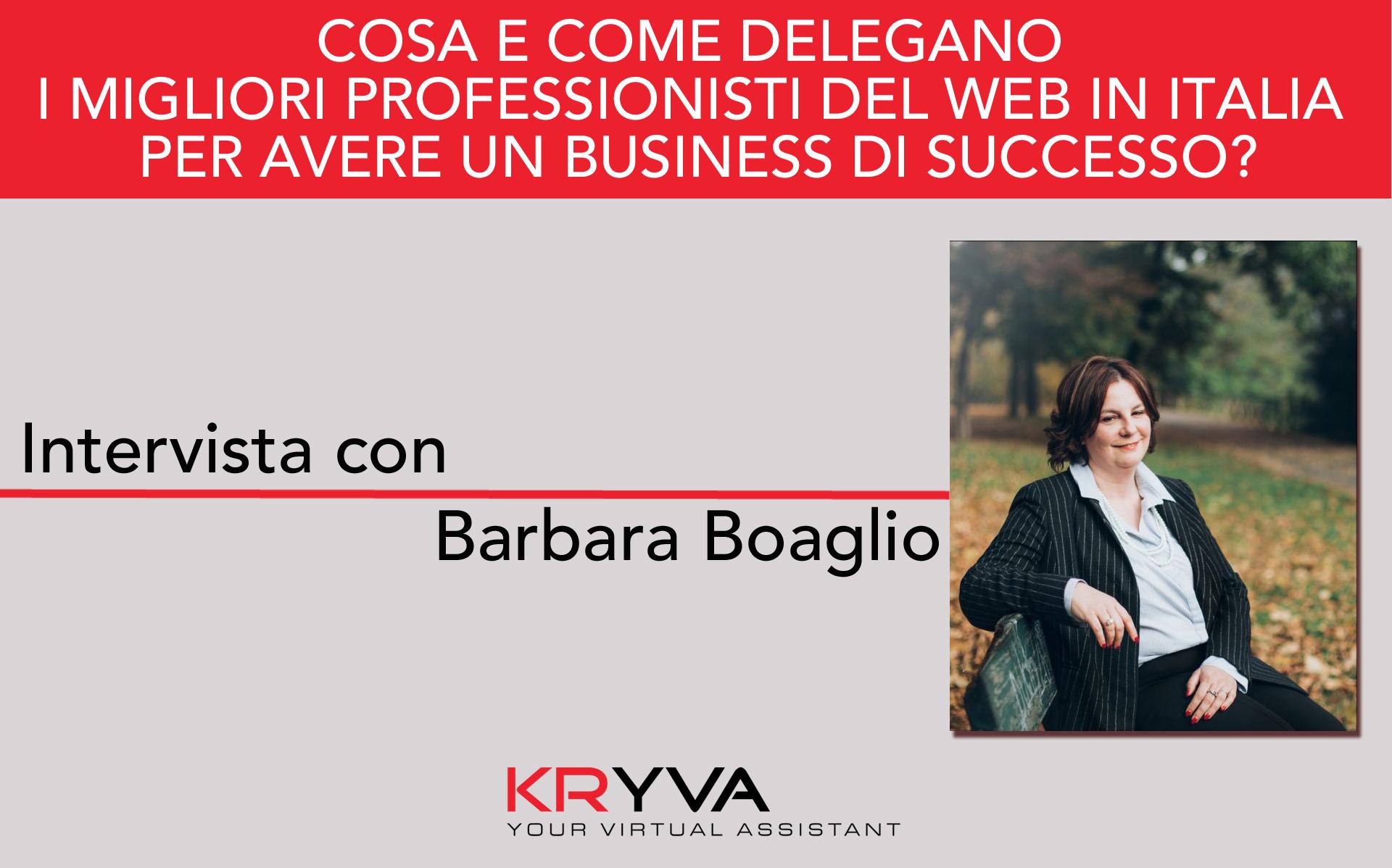 La condivisione dei valori nella delega | Intervista con Barbara Boaglio