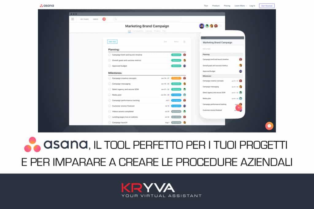 Asana il tool perfetto per i tuoi progetti e per imparare a creare le procedure aziendali